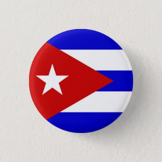 Cuban Flag 3 Cm Round Badge