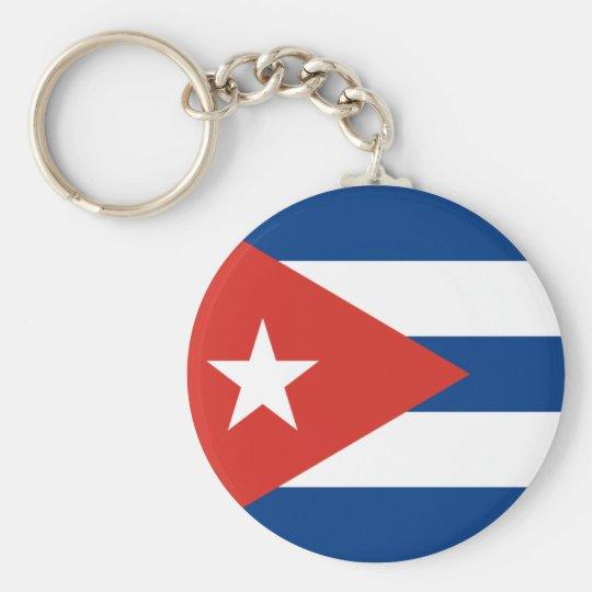 Cuban Flag Basic Round Button Key Ring