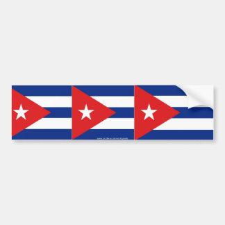 Cuban flag bumper sticker