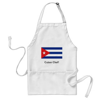 Cuban flag chef apron