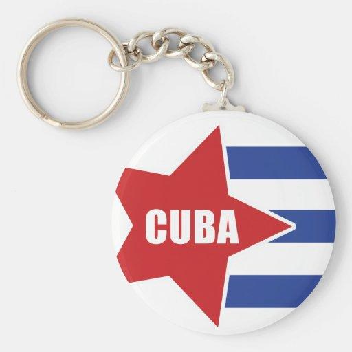 cuban flag keychain