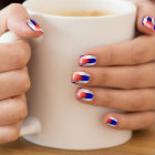 Cuban Flag Minx Nail Art