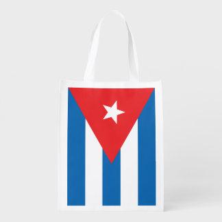 Cuban flag reusable bag