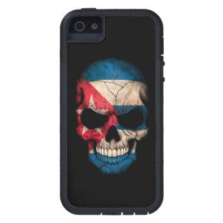 Cuban Flag Skull on Black Tough Xtreme iPhone 5 Case