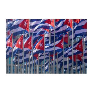 Cuban flags, Habana, Cuba Acrylic Print