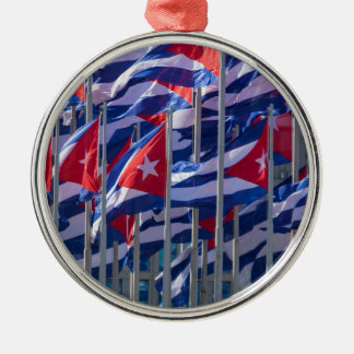 Cuban flags, Havana, Cuba Christmas Ornament