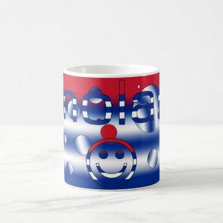 Cuban Gifts : Hello / Hola + Smiley Face Basic White Mug