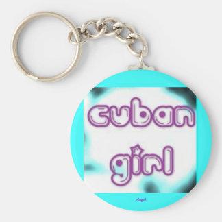 Cuban Girl Tag Key Ring