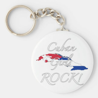 Cuban Girls Rock Keychains