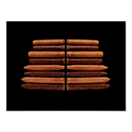 Cuban Habana Cigars Vip Black Minimalism Poster