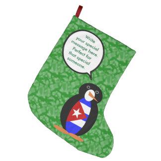 Cuban Holiday Mr. Penguin Large Christmas Stocking