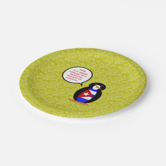 Cuban Holiday Mr. Penguin Paper Plate