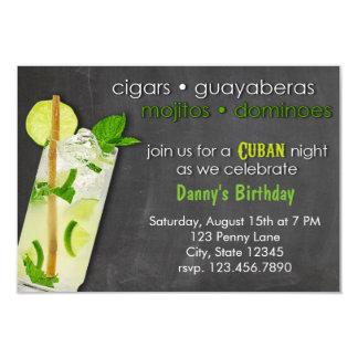 Cuban Night Mojito Party 9 Cm X 13 Cm Invitation Card