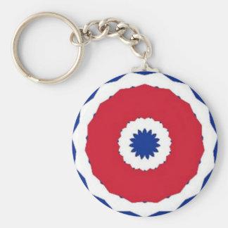 Cuban Pride Basic Round Button Key Ring