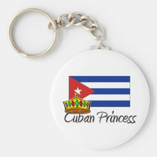 Cuban Princess Basic Round Button Key Ring