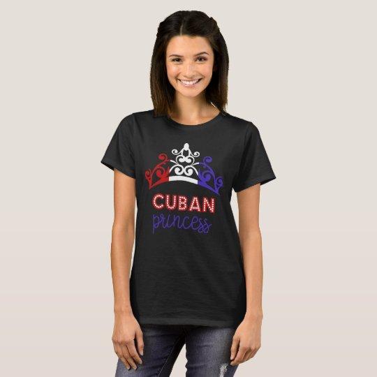 Cuban Princess Tiara National Flag T-Shirt
