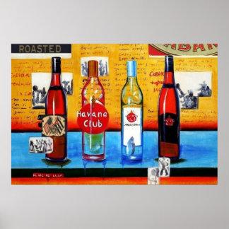 Cuban Rum Art Poster