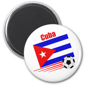 Cuban Soccer Team 6 Cm Round Magnet