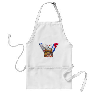 Cuban Teddy Bear with Cigar, White Back(pst) Standard Apron