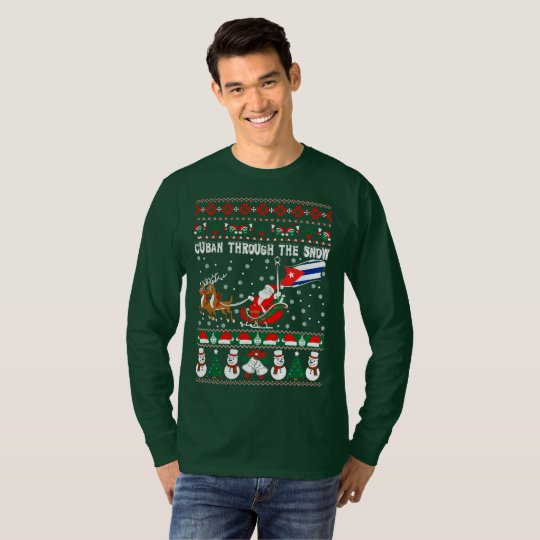 Cuban Through The Snow Ugly Christmas Sweater