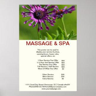 Cubane purple Spa Massage Beauty Salon Poster