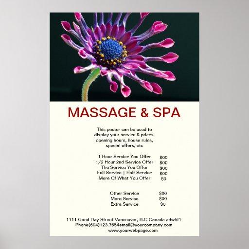 Cubane spider Spa Massage Beauty Salon Poster