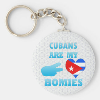 Cubans are my Homies Basic Round Button Key Ring