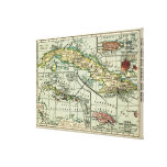 CubaPanoramic MapCuba Canvas Print