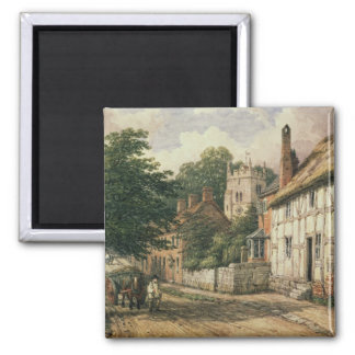 Cubbington, Warwickshire Square Magnet