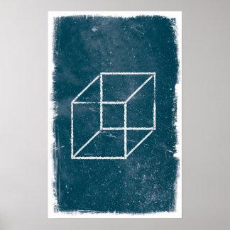 Cube Art Poster