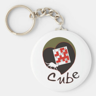 Cube Basic Round Button Key Ring