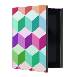 Cube Big Pattern Multicolored Cases For iPad