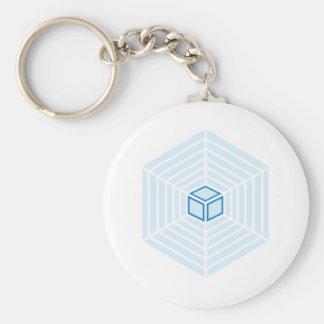 Cube catcher basic round button key ring