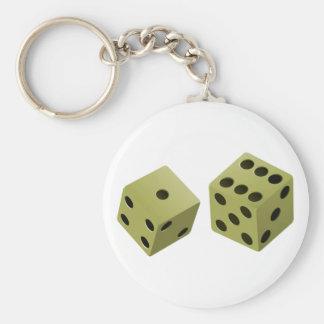 Cube dice key chain
