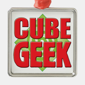 Cube Geek v2 Silver-Colored Square Decoration