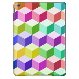 Cube Pattern Multicolored iPad Air Cases