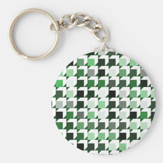 cube repeating pattern (green01) keychains