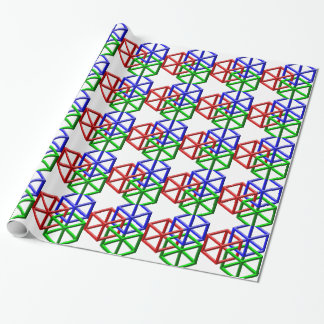 Cubes Impossible Geometry Optical Illusion Gift Wrapping Paper