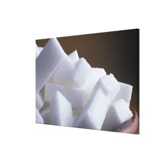 Cubes of white sugar For use in USA only Gallery Wrapped Canvas