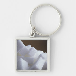 Cubes of white sugar For use in USA only.) Key Chains