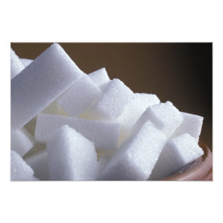 Cubes of white sugar For use in USA only.) Photograph