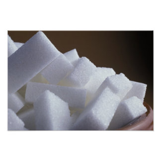 Cubes of white sugar For use in USA only.) Poster