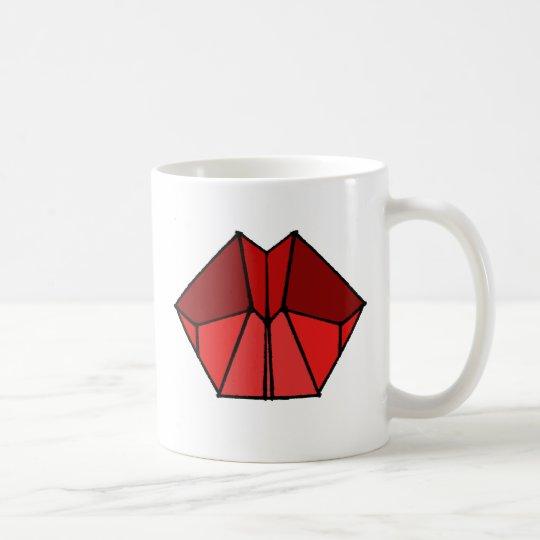 Cubic Lips Red Shades Coffee Mug Cup