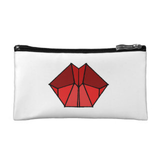 Cubic Lips Red Shades Cosmetic/Makeup Bag