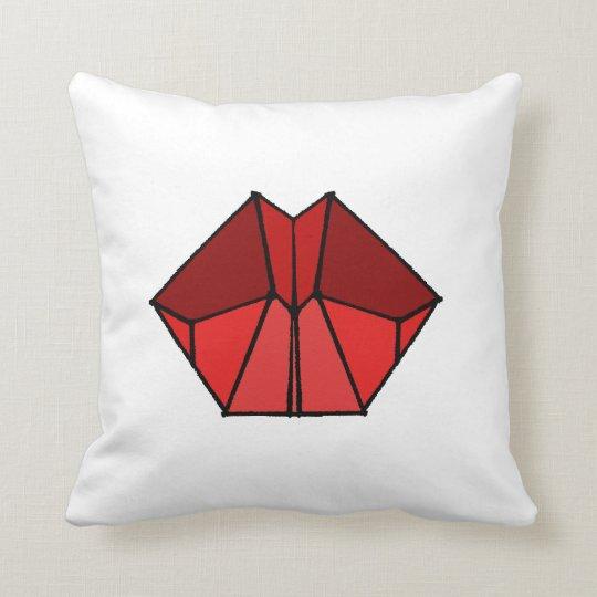 Cubic Lips Red Shades Throw Cushion