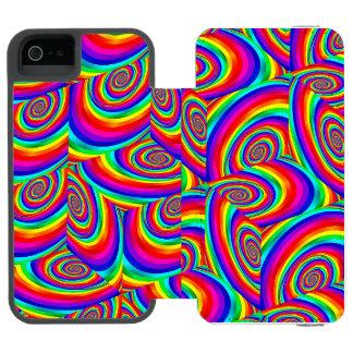 Cubic Rainbow Fractal Phone Wallet Case Incipio Watson™ iPhone 5 Wallet Case