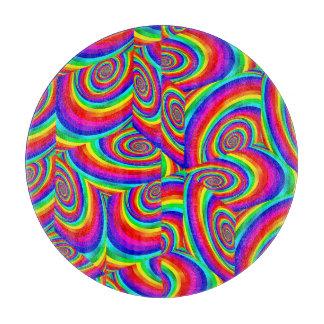 Cubic Rainbow Spiral Fractal Cutting Board