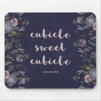 Cubicle Sweet Cubicle | Smoky Florals Mouse Mat