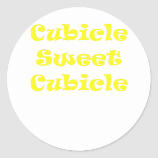 Cubicle Sweet Cubicle Round Stickers