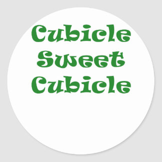 Cubicle Sweet Cubicle Round Sticker